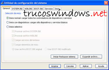 Comandos desde la consola en Windows XP