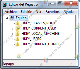 Editor del Registro de Windows