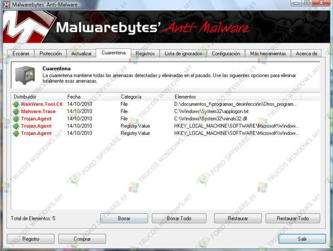 Manual Malwarebytes Anti-Malware