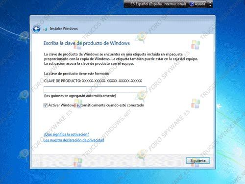 Cave producto Windows 7