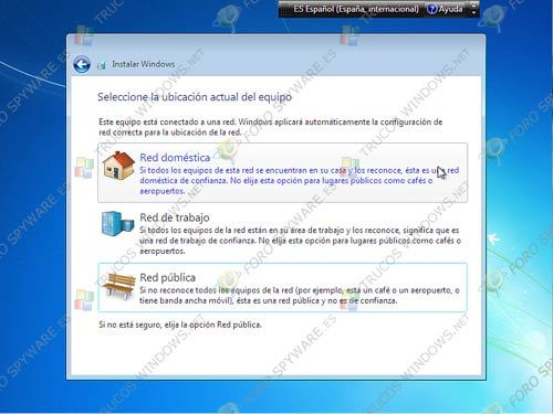 Configurar red en Windows 7
