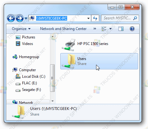 Compartir archivos en Windows 7 y XP