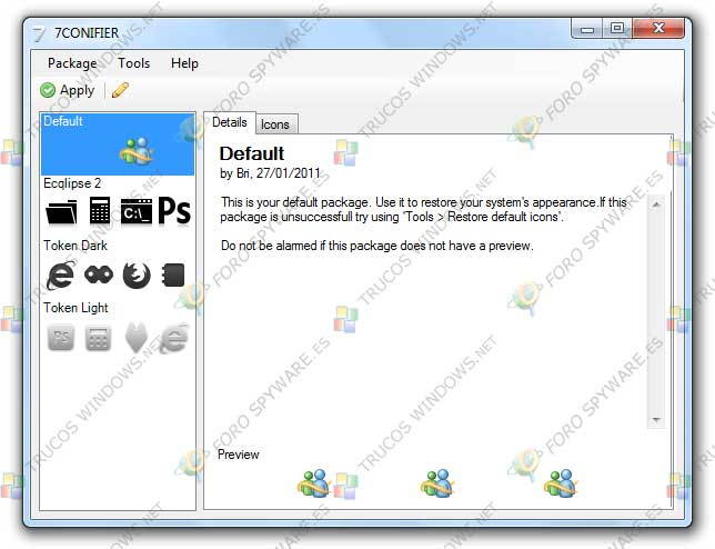 Cambiar los iconos de sistema en Windows 7
