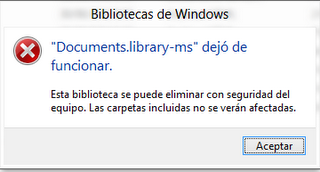 error documents.library-ms