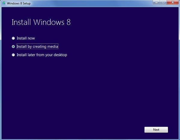 Lista opciones Windows 8